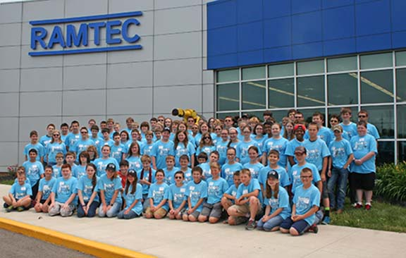 Summer RAMTEC Vex Robotics Camp Participants. The Future Workforce of Ohio!