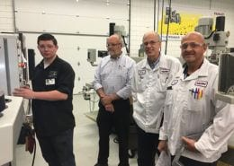 NIssin visit to Advanced Machining